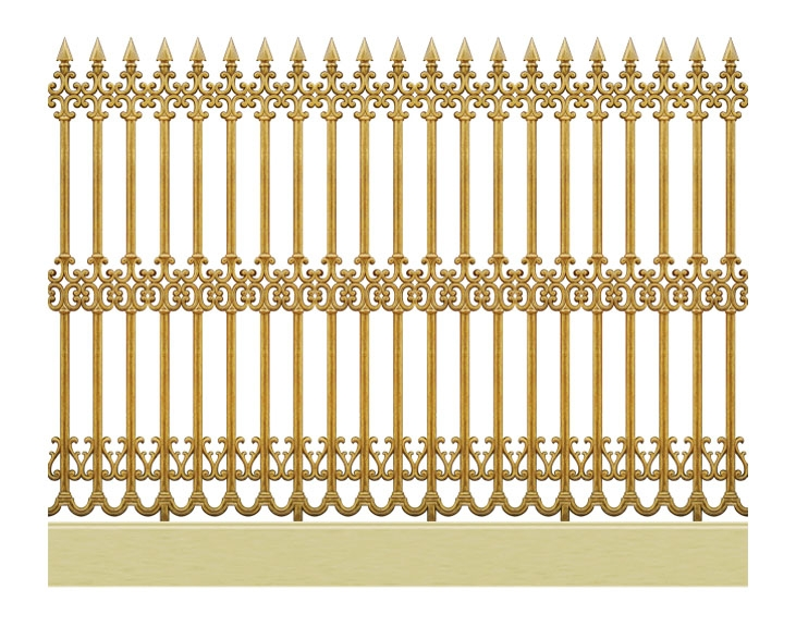 Mẫu hàng rào nhôm đúc -HR03