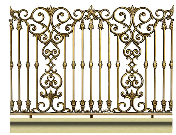 Mẫu hàng rào nhôm đúc -HR08