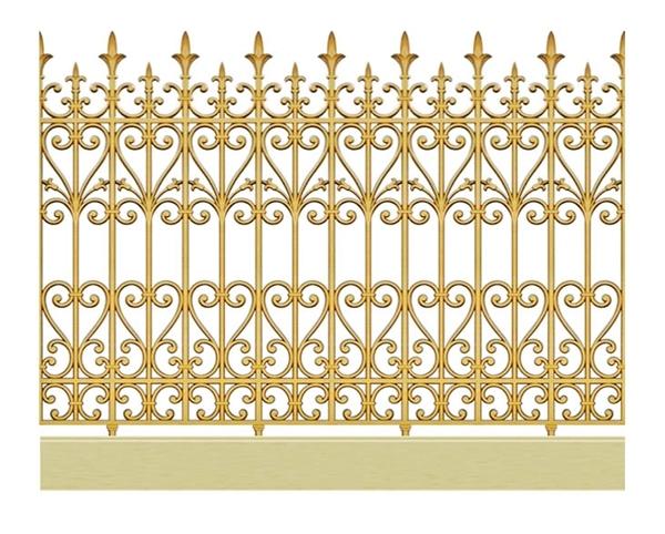 Mẫu hàng rào nhôm đúc -HR13
