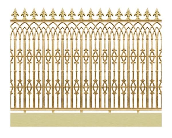 Mẫu hàng rào nhôm đúc -HR15